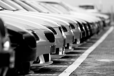 row of cars in a car park