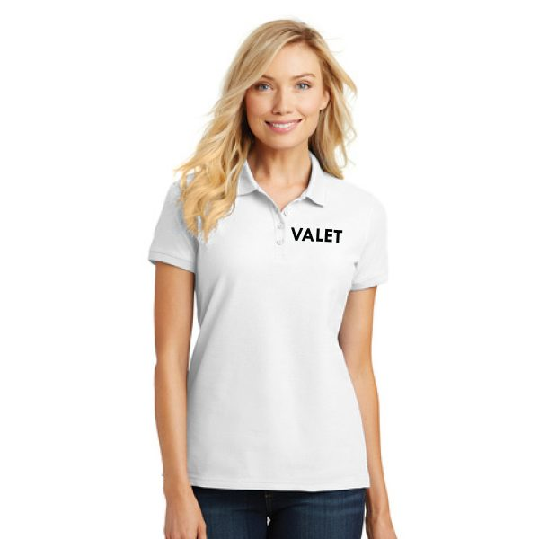 white t-shirt with logo, front view, white background