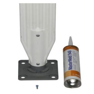 fastener kit with adhesive, white background