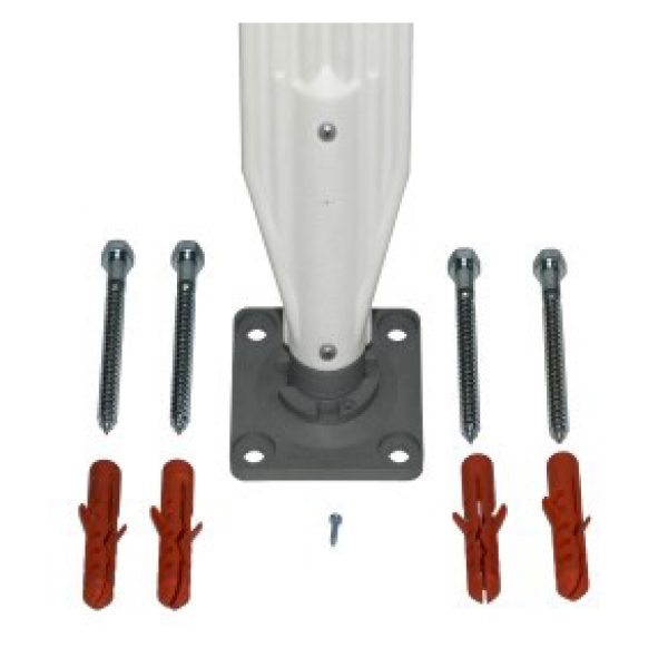 fastener kit with bolts, white background