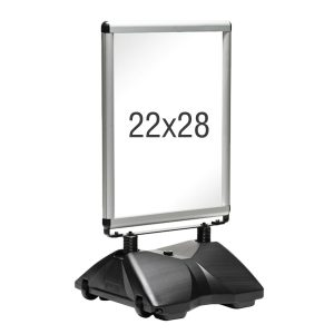 silver rolling base frame, white background