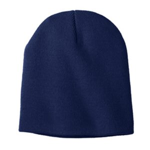 blue skull cap, white background
