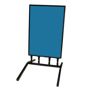 Blue frame with stand, white background
