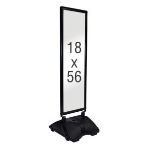 long rolling base black frame, white background