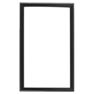 white signboard with black frame, white background