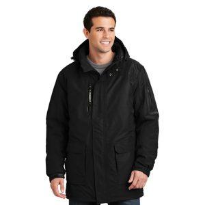 black jacket, white background