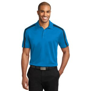 blue polo t-shirt, white background
