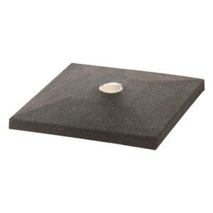black square sign base, white background