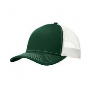green cap with white back part, white background