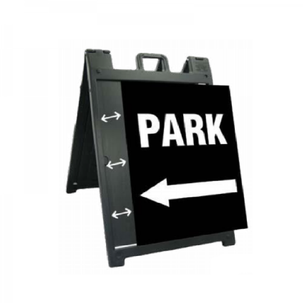 black special frame with sign, white background