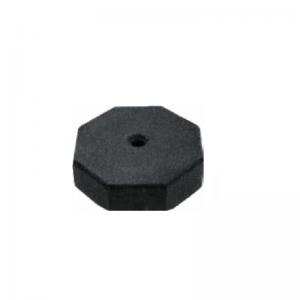 black octagon sign base, white background