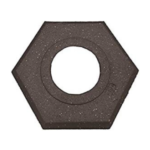 Black Recycled Hexagon Rubber Base, white background