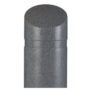 "11"" x 39"" Charcoal Granite Slant Top Decorative Bollard Cover, white background"