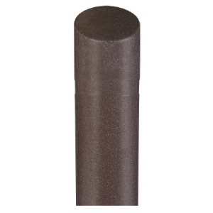 "8"" x 65"" Brown Granite Decorative Bollard Cover with Slant Top, white background"