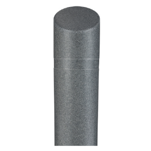 "8"" x 65"" Charcoal Grey Granite Decorative Bollard Cover with Slant Top, white background"