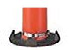 Orange Ez Grab Delineator Permanent Mount Boxed Kits, white background