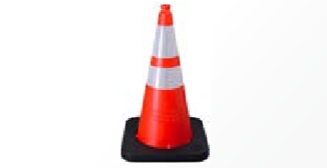 "Enviro-Cone - 28"", 12lb Orange, white background"