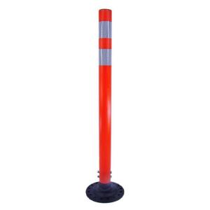 Orange Post Boomerang Delineator, white background