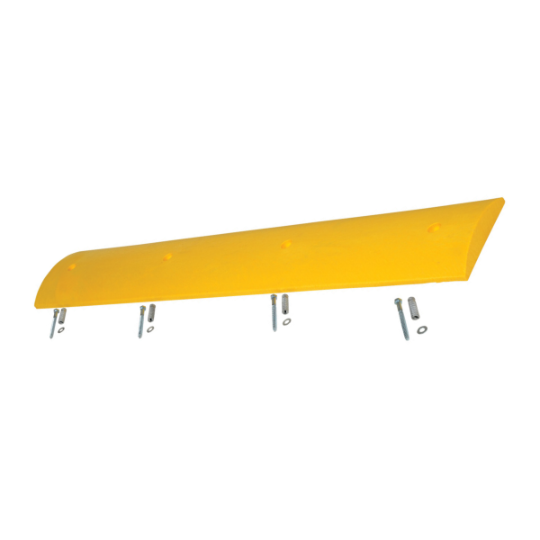 Yellow Recycled Plastic Speed Bump, white background