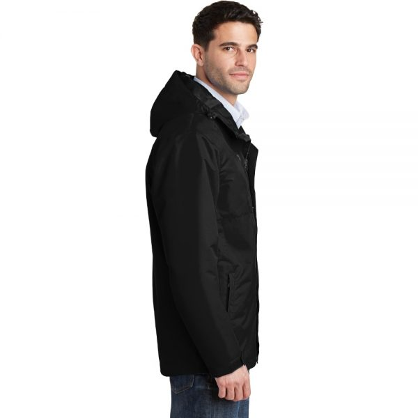 Black All Condition Jacket Model Side, White Background
