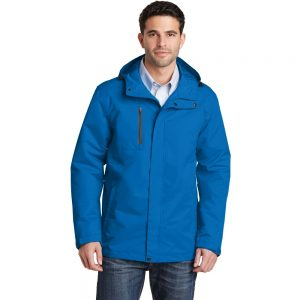 Direct Blue All Condition Jacket Model Front, White Background