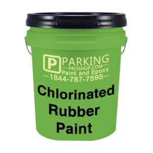 Green Chlorinated Rubber Pain Gallon, White Background