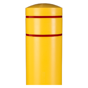 Yellow 13 BollardGard Bollard Cover, Post Sleeve, White Background