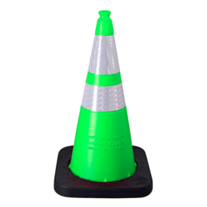 "Enviro-Cone - 28"", 10lb Lime Green, white background"