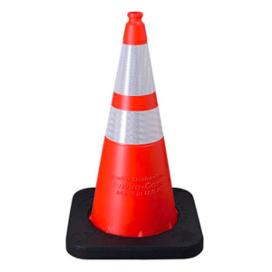 "Enviro-Cone - 28"", 10lb Orange, white background"