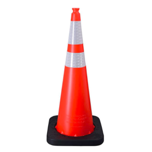 "Enviro-Cone - 36"", 12lb Orange, white background"