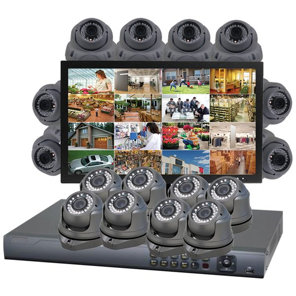 eagle eye 2 - gray cameras, and monitor, white background