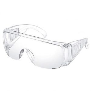 Transparent Protective Goggles, white background